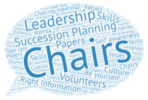 A speech bubble with words relating to the Chairing role