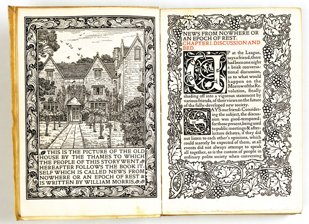 image from ornate William Morris book